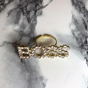 Jewelry - Gold BOSS Statement Ring