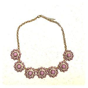 Light purple statement necklace