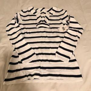 kate spade Tops - NWT Kate spade nautical stripe bow sweatshirt