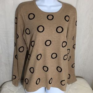 Sweaters - Circle Sweater in Tan