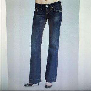 True Religion Denim - True Religion 'Candice' Wide Leg Jeans