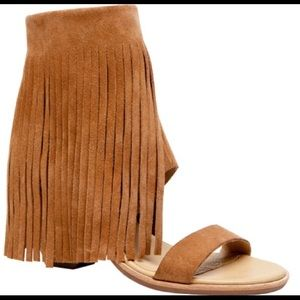 UGG Shoes - New Koolaburra By Ugg Fringe Wedge Piaz Sandal 6