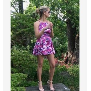 Amazing Lace Dresses & Skirts - Floral Dreamer Purple & Pink Sleeveless Romper