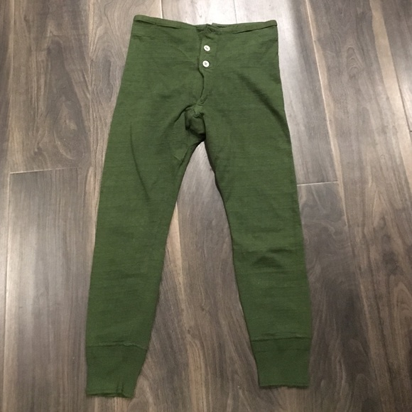Vintage Military button fly long underwear