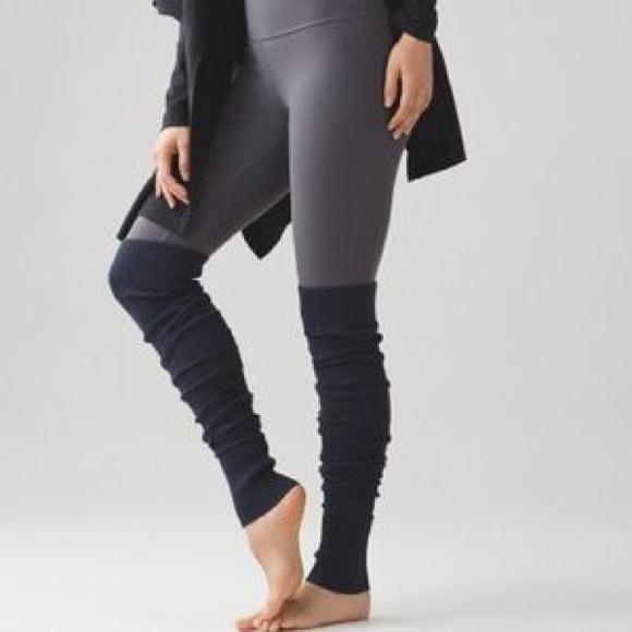 73adfd6b5df Lululemon After Asana Thigh High Leg Warmers Black