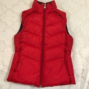 Nike down vest black and red reversible XS