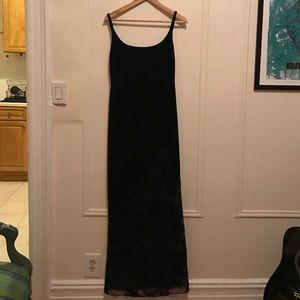 Vintage '90's velvet maxi dress