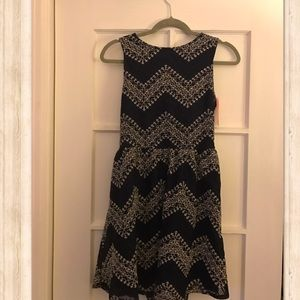 Merona Navy lace dress with back cut out