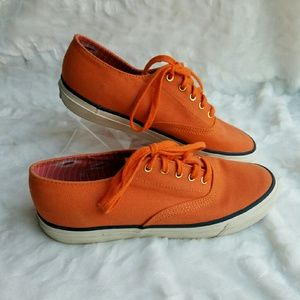 Sperry TOPSIDER Orange Canvas Shoes