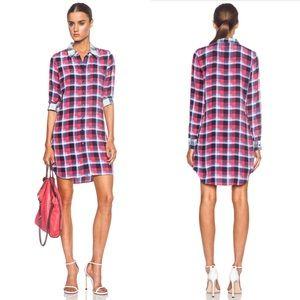 Equipment Dresses & Skirts - •Equipment 'Brett' Silk Plaid Dress•