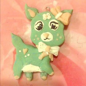 Kawaii Mint Deer Necklace