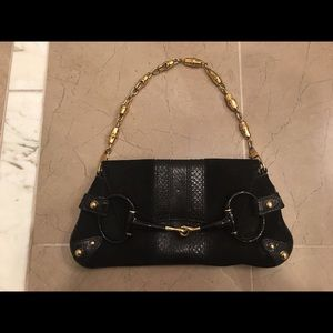 Gucci Handbags - Listing 1: Authentic Gucci suede and python bag