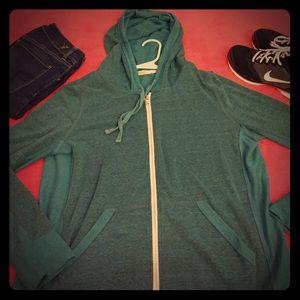 ABBOT MAIN Tops - 2/$15 🛍 Teal zip up hoodie