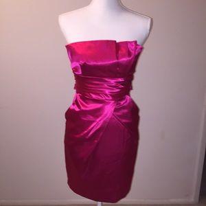Teeze Me Red Satin Formal Dress