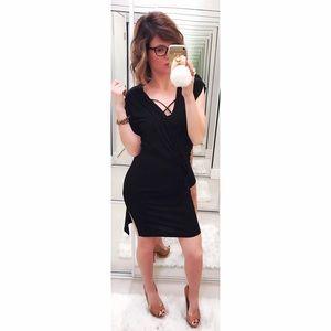 All Saints Dresses & Skirts - ➡NWT All Saints Black Helix Draped Dress⬅