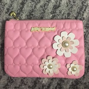Betsey Johnson heart quilt clutch