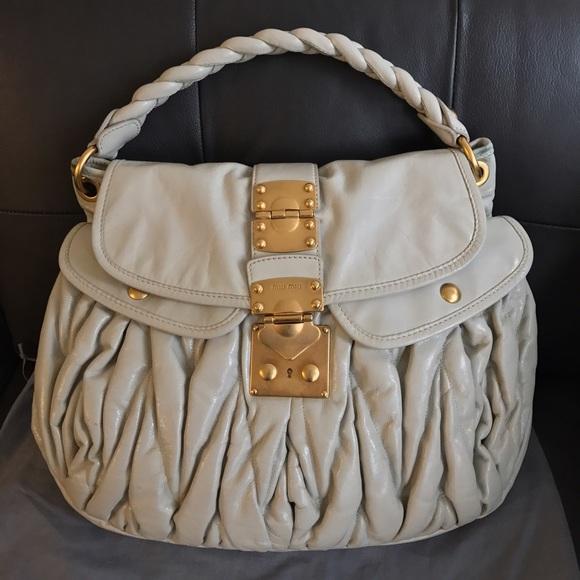 023327116c11b4 Miu Miu Bags | Authentic By Prada Matelasse Coffer Bag | Poshmark