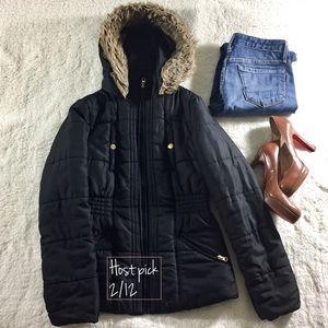 Krush Jackets & Blazers - FINALE SALE🎯Krush Faux-fur Trim Hood Zipper.