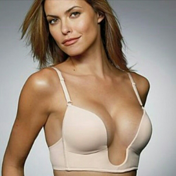 d69f7bc515df0 Victoria s Secret tan U Plunge bra! M 588d7196b4188e575b044b1a