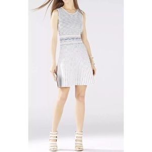 Bcbg Wilma Haze woodblock fit and flare dress NWT