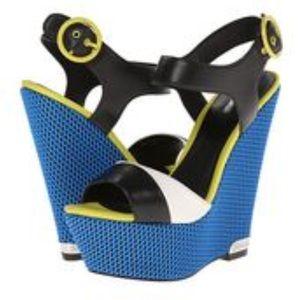 Just Cavalli Shoes - JUST CAVALLI Roberto Color Block Platform Wedge