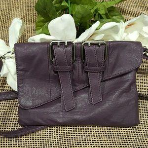 Handbags - Crossbody - Purple Buckle Purse