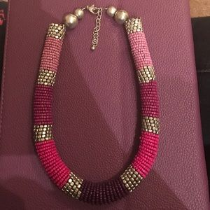 Lilly Pulitzer Jewelry - Magenta/purple beaded necklace