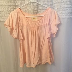 Anthropologie Tops - Anthropologie Maeve Embroidered polka dot top