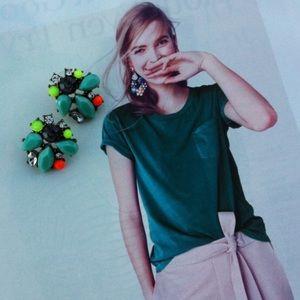 Colorful Neon Cluster Stud Earrings