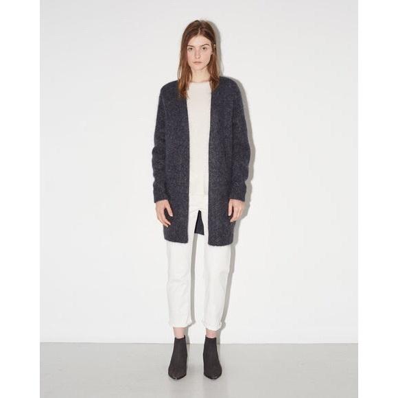 28cd66d557 Acne Sweaters - Acne Raya Short Cardigan in Dark Gray Melange S