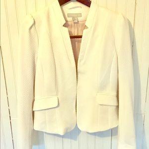 H&M White Structured Blazer w/ One Front Clip
