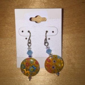 Funky Flower Hook Earrings