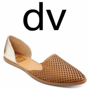 DV by Dolce Vita Shoes - Dolce Vita• Paige D'orsay Tan/Metallic Flats