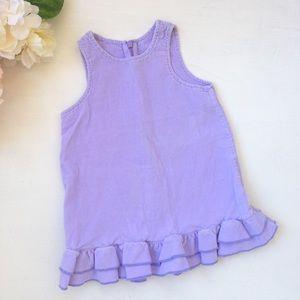 Mini Boden Other - MINI BODEN Corduroy Ruffle Dress