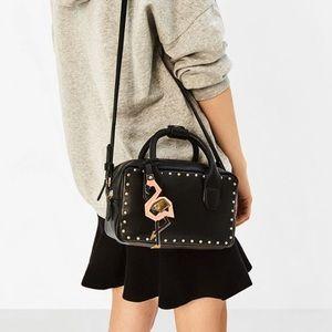 Studdded Mini Bowling Bag - ZARA