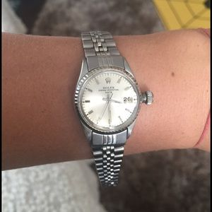 Rolex Accessories - Vintage Rolex Oyster Perpetual Date Ladies Watch