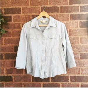 Dress Barn Tops - 💋BOGO Rayon Blend Button Up