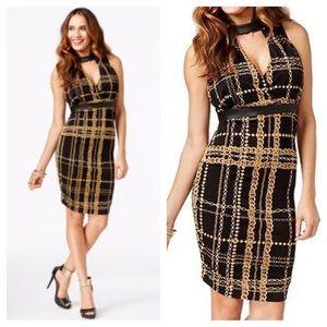 Thalia Sodi Dresses & Skirts - Thalia Sodi Chain Print Pleather Trim Dress✨