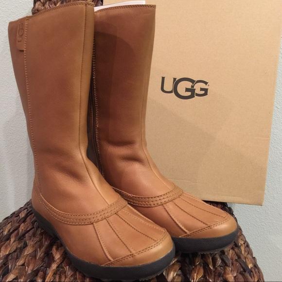 025681ab0a9 UGG Chestnut Belfair Leather Boots NWT