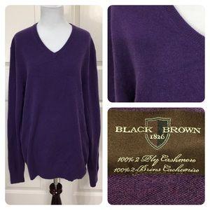 Black Brown 1826 Other - NWT! Men's Cashmere Black Brown 1826 vneck sweater