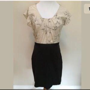 Rebecca Taylor Dresses & Skirts - Rebecca Taylor Navy Ivory Lined Sheath Dress