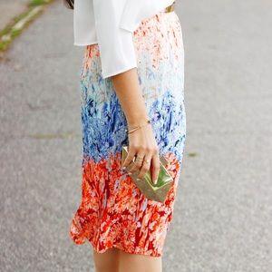 Skirts - Pleated print skirt