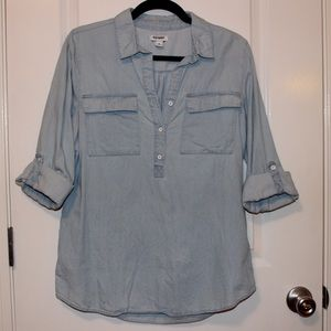 Old Navy Chambray Pop-over Long sleeve Top