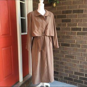Vintage Long Tie Waist Trench Coat