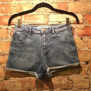 Zara high waisted denim shorts