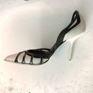 Narciso Rodriguez Shoes - Narciso Rodriguez suede cut-out pumps size 7