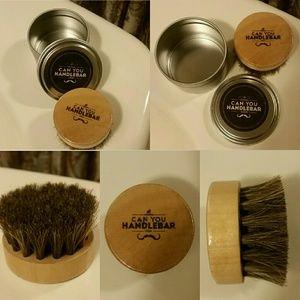 CanYouHandlebar Beard Brush With Travel Case