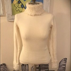 Sweaters - Faux Poodle Hair Turtle Neck Sweater