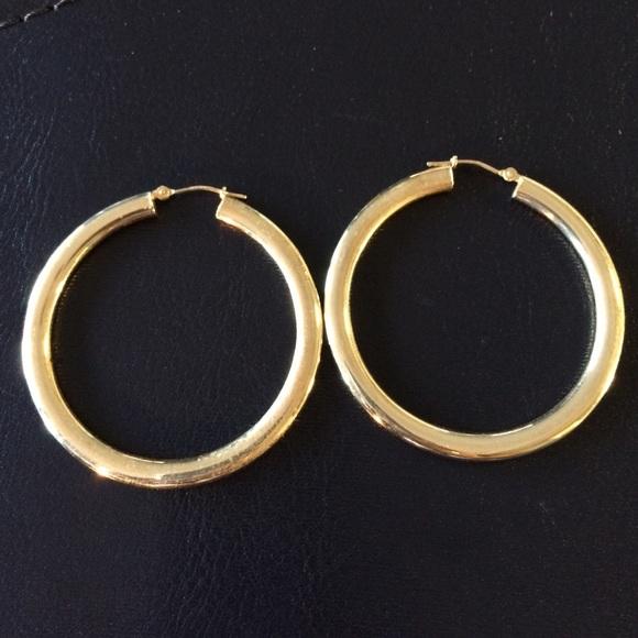 14 Karat Jewelry Gold Hoop Earrings 33 Grams Stamped 14k Poshmark