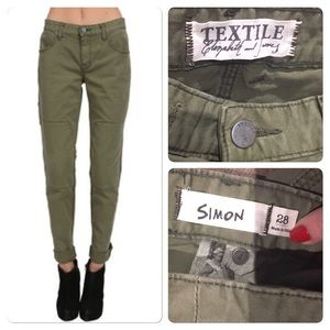 TEXTILE Elizabeth and James Pants - Elizabeth & James Textile cuffed Simon cargo pant